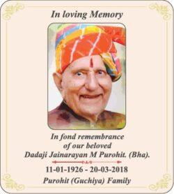 in-loving-memory-jainarayan-m-purohit-ad-times-of-india-mumbai-20-03-2021