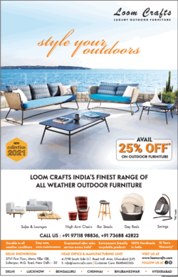 loom-crafts-avail-25%-off-on-outdoor-furniture-ad-delhi-times-06-03-2021