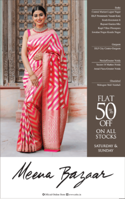 meena-bazaar-flat-50%-off-on-all-stocks-ad-delhi-times-13-03-2021