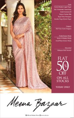 meena-bazaar-flat-50%-off-on-all-stocks-ad-delhi-times-14-03-2021