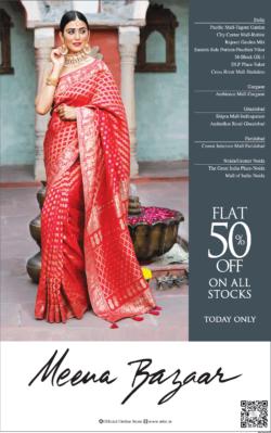 meena-bazaar-flat-50%-off-on-all-stocks-ad-delhi-times-21-03-2021