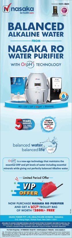 nasaka-ro-water-purifier-with-orph-technology-ad-delhi-times-14-03-2021