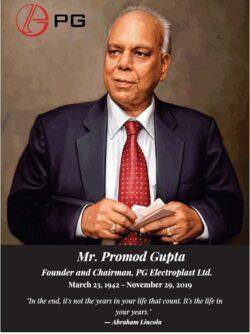 remembrance-mr-pramod-gupta-founder-and-chairman-pg-electroplast-ltd-ad-times-of-india-delhi-23-03-2021