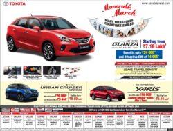 toyota-yaris-urban-cruiser-and-glanza-ad-delhi-times-26-03-2021
