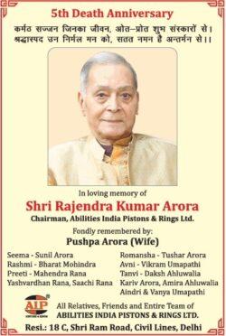5th-death-anniversary-shri-rajendra-kumar-arora-chairman-abilities-india-pistons-and-rings-ltd-ad-times-of-india-delhi-29-04-2021