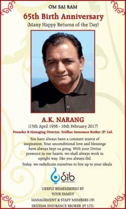 65th-birth-anniversary-a-k-narang-ad-times-of-india-delhi-15-04-2021