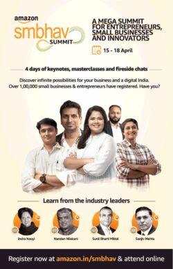amazon-smbhav-summit-a-mega-summit-for-enterpreneurs-ad-times-of-india-mumbai-10-04-2021