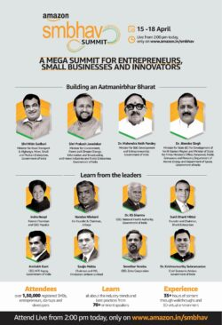 amazon-smbhav-summit-a-mega-summit-for-entrepreneurs-ad-times-of-india-mumbai-15-04-2021