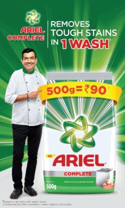 ariel-complete-removes-tough-stains-in-1-wash-by-sanjeev-kapoor-ad-times-of-india-mumbai-04-04-2021