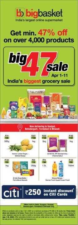 bigbasket-big-47-sale-indias-biggest-grocery-sale-ad-times-of-india-delhi-03-04-2021