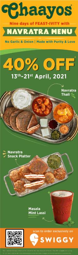 chaayos-navratra-menu-40%-off-ad-delhi-times-13-04-2021