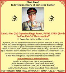 first-barsi-late-lt-gen-dr-gajendra-singh-rawat-ad-times-of-india-delhi-04-04-2021