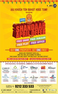 gaurs-shandaar-april-offer-buy-one-property-get-one-free-ad-delhi-times-10-04-2021