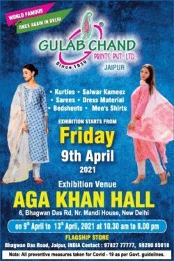 gulab-chand-prints-pvt-ltd-jaipur-kurties-sareees-bedsheets-mens-shirts-exhibition-venue-aga-khan-hall-ad-delhi-times-08-04-2021