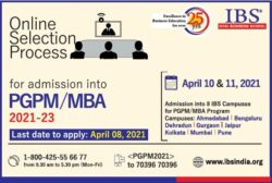 ibs-icfai-business-school-online-selection-process-for-admission-into-pgpm-mba-ad-times-of-india-delhi-04-04-2021