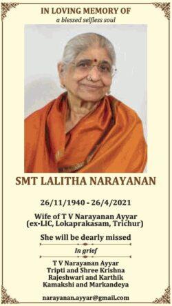 in-loving-memory-of-smt-lalitha-narayanan-ad-times-of-india-mumbai-30-04-2021