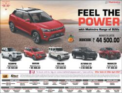 mahindra-scorpio-xuv-500-bolero-alturas-g4-marazzo-feel-the-power-ad-delhi-times-17-04-2021