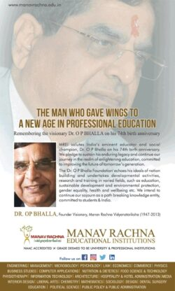 manav-rachna-education-institutions-dr-op-bhalla-ad-times-of-india-delhi-04-04-2021