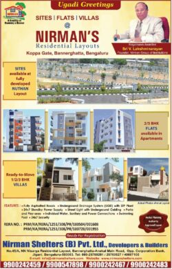 nirman-shelters-b-pvt-ltd-developers-and-builders-ad-property-times-bangalore-09-04-2021