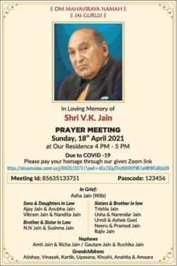 prayer-meeting-shri-v-k-jain-ad-times-of-india-delhi-18-04-2021