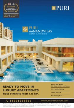 puri-aanandvilas-ready-to-move-in-luxury-aprtments-ad-times-of-india-delhi-10-04-2021