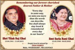 remembering-shri-tilak-raj-ghai-smt-sarla-rani-ghai-ad-times-of-india-delhi-11-04-2021