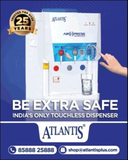 Atlantis Be Extra Safe Indias Only Touchless Dispenser Ad