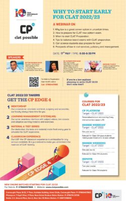clat-possible-why-to-start-early-for-clat-2022-23-ad-times-of-india-delhi-16-05-2021