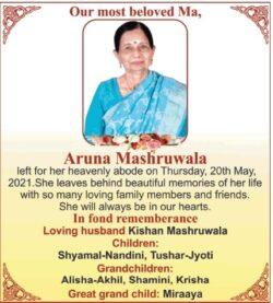 in-fond-remembrance-aruna-mashruwala-ad-times-of-india-mumbai-22-05-2021