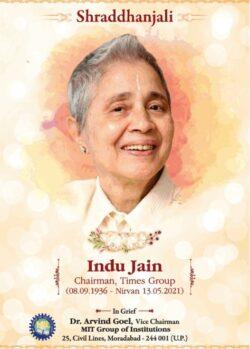 Shraddhanjali-Indu-Jain-Chairman-Times-Group-Ad-Times-Of-India-Delhi-15-05-2021