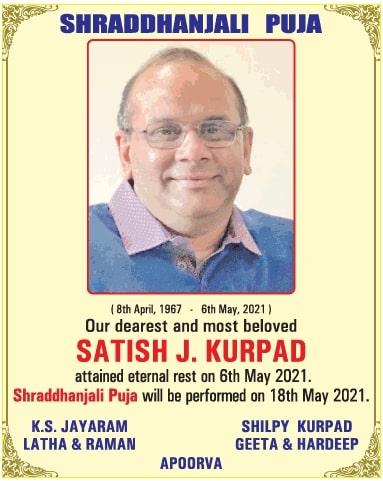 shraddhanjali-puja-satish-j-kurpad-ad-times-of-india-delhi-16-05-2021