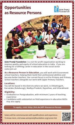 azim-premji-foundation-opportunities-as-resource-persons-ad-amar-ujala-delhi-16-06-2021