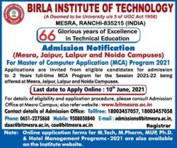 birla-institute-of-technology-admission-notification-ad-delhi-times-30-05-2021