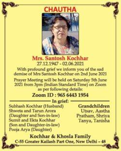 chautha-mrs-santosh-kochhar-ad-times-of-india-delhi-05-06-2021