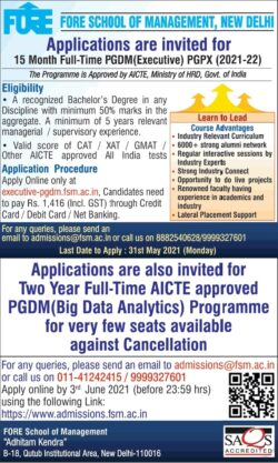 fore-school-of-management-new-delhi-applications-are-invited-ad-delhi-times-30-05-2021