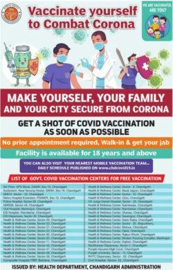 health-department-chandigarh-vaccinate-yourself-to-combat-corona-ad-tribune-chandigarh-26-06-2021