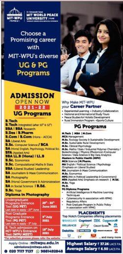 mit-world-peace-university-admission-open-now-2021-22-ad-lokmat-mumbai-27-06-2021