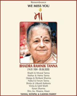 remembrance-we-miss-you-maa-bhadra-ramnik-tanna-ad-times-of-india-mumbai-05-06-2021