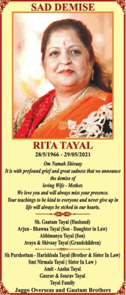 sad-demise-rita-tayal-ad-times-of-india-delhi-02-06-2021