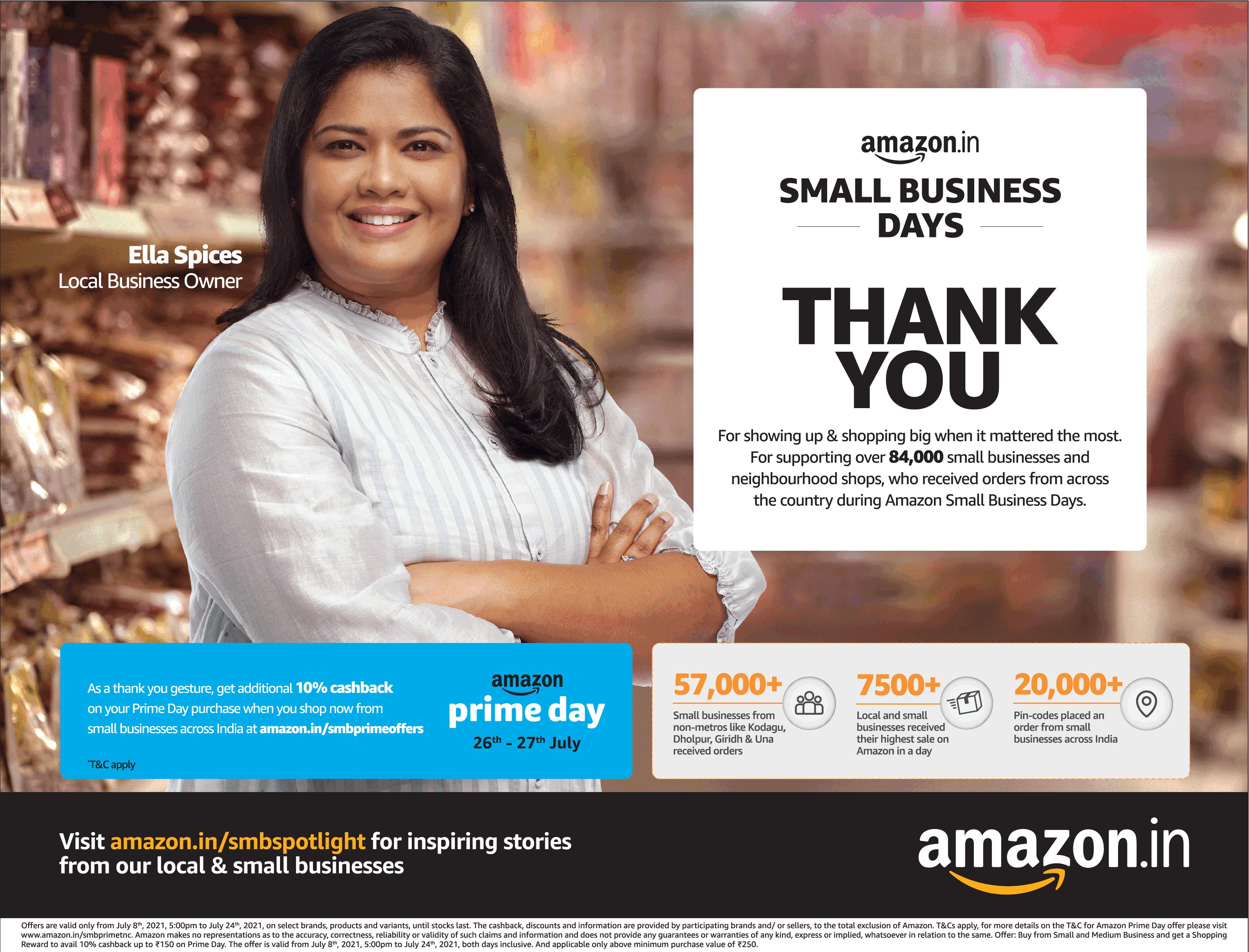 amazon-small-business-days-ella-spices-thank-you-ad-toi-mumbai-11-7-2021