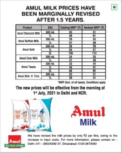 amul-milk-prices-have-been-marginally-revised-after-1-5-years-new-prices-effective-from-1st-july-2021-ad-toi-delhi-1-7-2021