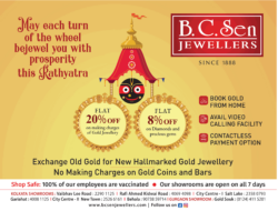 BC Sen Jewellers May Each Turn Of The Wheel Bejewel You With Prosperity This Rathyatra Ad
