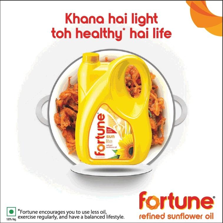 fortune-refined-sunflower-oil-khana-hai-light-toh-healthy-hai-life-ad-times-of-india-mumbai-03-07-2021