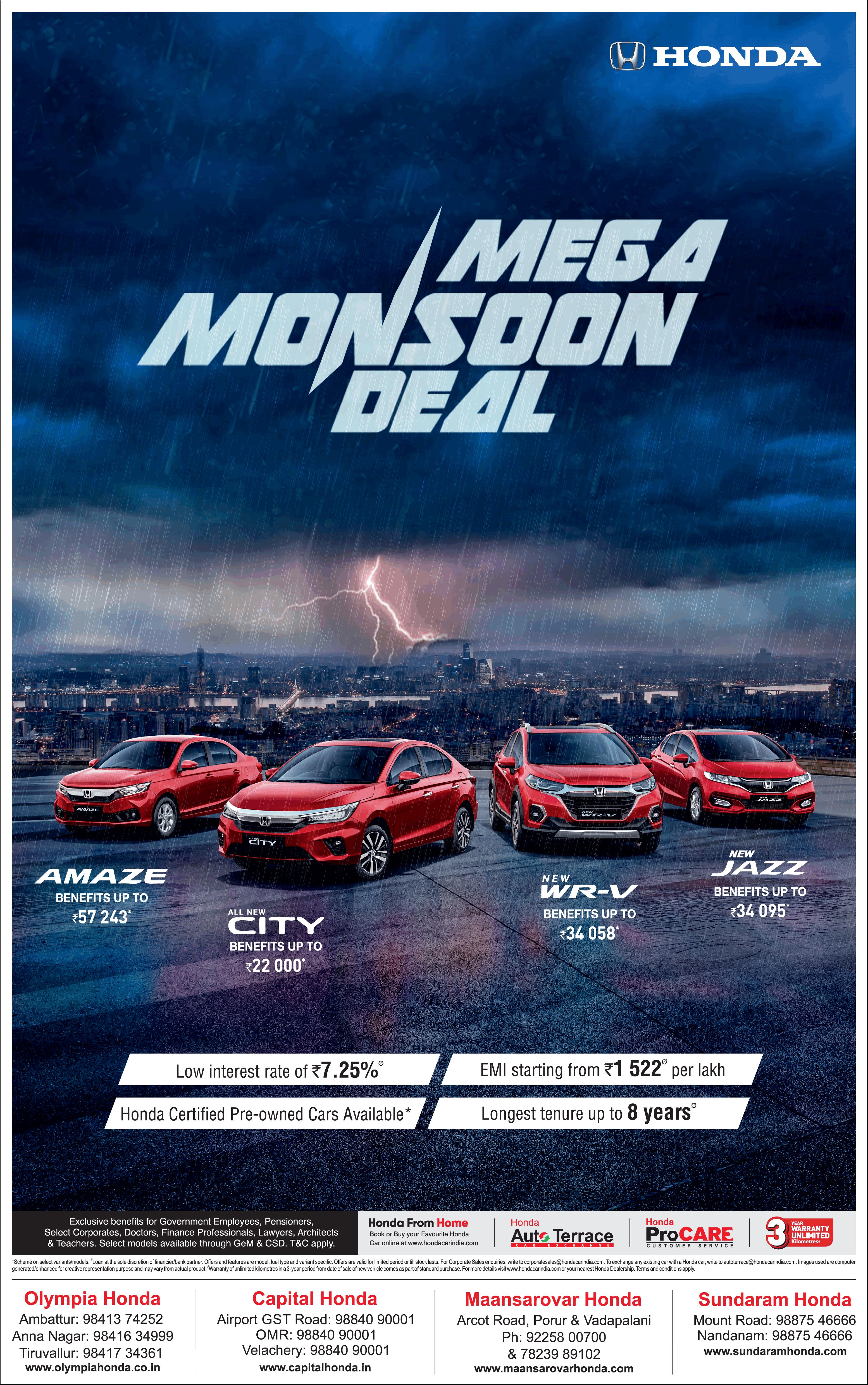honda-mega-monsoon-deal-on-all-honda-cars-ad-times-of-india-chennai-9-7-2021