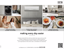 IFB Appliances Laundry Living Kitchen Solutions Making Every Day Easier Ad