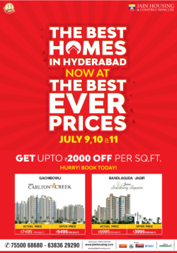 jain-housing-the-best-homes-in-hyderabad-get-upto-rs-2000-off-per-sq-ft-for-july-only-ad-times-of-india-hyderabad-10-7-2021