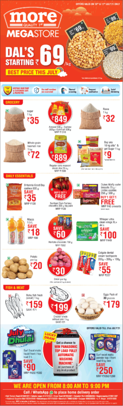 more-mega-store-dals-starting-rs-69-best-price-this-july-ad-times-of-india-bangalore-10-7-2021