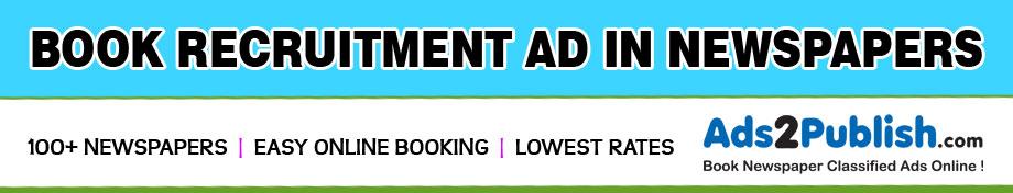 Recruitment Ad in Newspaper