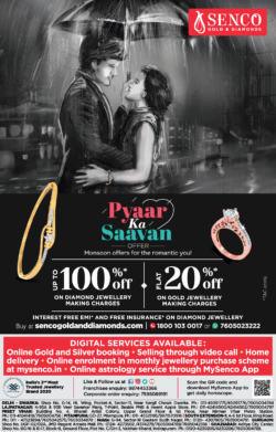 senco-gold-&-diamond-pyaar-ka-saavan-offer-monsoon-offers-for-the-romantic-you-ad-times-of-india-delhi-10-7-2021