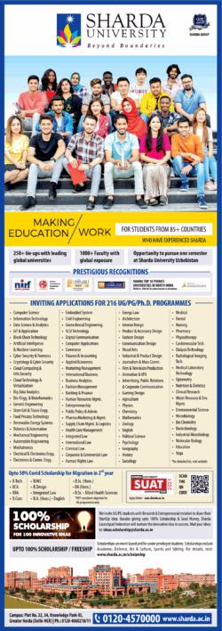 sharda-university-inviting-applications-for-216-ug-pg-phd-programmes-ad-times-of-india-delhi-9-7-2021